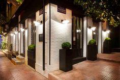 Malconi's Restaurant/Cafe; Athens, Greece Athens Restaurants, Coconut Mousse, Making Gnocchi, Retail Architecture, Restaurant Design, Fun Desserts, Bistros, Patio, Athens Greece