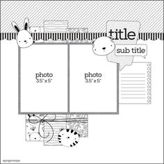 what to draw sketches Scrapbook Layout Sketches, Scrapbook Templates, Scrapbook Designs, Card Sketches, Scrapbook Albums, Scrapbooking Layouts, Scrapbook Cards, Digital Scrapbooking, Baby Girl Scrapbook