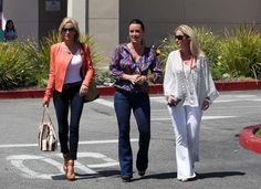 """Real Housewives of Beverly Hills"" , Camille Grammer and Kyle and Kim Richards enjoyed each others company for lunch in Calabasas, CA on May 9th, 2012."