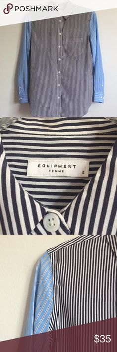 Equipment femme small Button Down Blouse This listing is for a preowned top in excellent condition. Thanks for looking! Equipment Tops Button Down Shirts