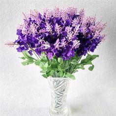 10pcs Romantic Provence lavender flower silk artificial flower grain Simulation of aquatic plants Home Wedding Decoration