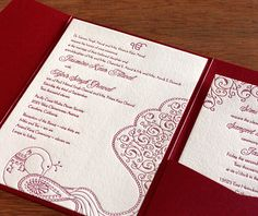 jessica letterpress wedding invitation by invitations by ajalon