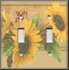 Light Switch Plate Cover - Country Home Sunflowers