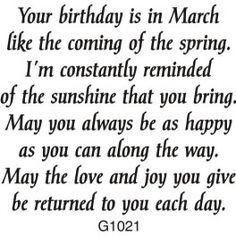 March Birthday Greeting