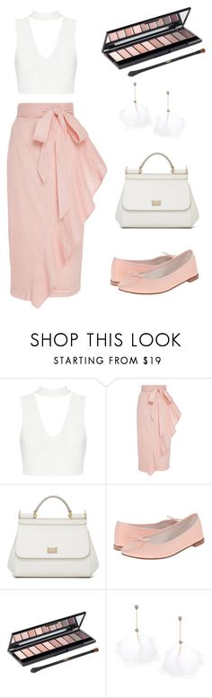 """""""pink and white"""" by monocass ❤ liked on Polyvore featuring Marysia Swim, Dolce&Gabbana, Repetto, L'Oréal Paris and Betsey Johnson"""