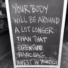 Imagine if you invested as much in your body!