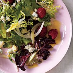 Pickled Onion, Blue Cheese, and Berry Salad | CookingLight.com