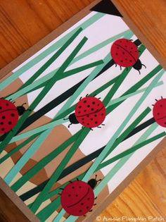 Spring Art Projects For Kids Children How To Make Trendy Ideas Ladybug Art, Ladybug Crafts, Ladybug Garden, Kindergarten Art, Preschool Crafts, Projects For Kids, Crafts For Kids, Summer Art Projects, Arte Elemental