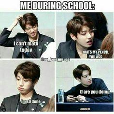 I like the meme   Jungkook is so cute here too