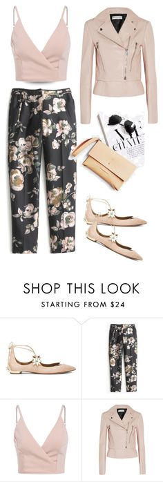 """""""Untitled #329"""" by taz7568 ❤ liked on Polyvore featuring Aquazzura, J.Crew, Balenciaga, CO and blinddate"""