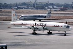 IL-18 TAROM YR-IMH - Sep 08,1984 Hellinikon-Athens. Airliners.net/Johan Ljungdahl. Athens, Romania, Airplanes, Aircraft, Vehicles, Beauty, Planes, Aviation, Car