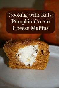 Pumpkin Cream Cheese Muffins  Cooking with Kids