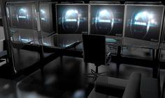 sci-fi office
