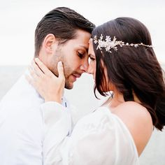 Sensational images by @ilaria_petrucciphoto  Love seeing my pearly hair vine styled this way  Repost  @ilaria_petrucciphoto ・・・ A love like this. Spontaneous, passionate and wild at heart.  www.donnacrain.com for all bridal accessories X