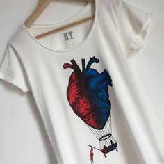 women's t-shirt with colored anatomical heart. Available on hardtimestore.etsy.com #anatomicalheart #hotairballoon #balloon #airballoon #mongolfiera #cuoreanatomico #anatomy #screenprint #tshirt #tee #vintage #heart #heartillustration #print #printed #artprint #illustration #screenprinting #apparel #brand #anatomicalheart #cuore #art #anatomical #heart #tattoo #etsy