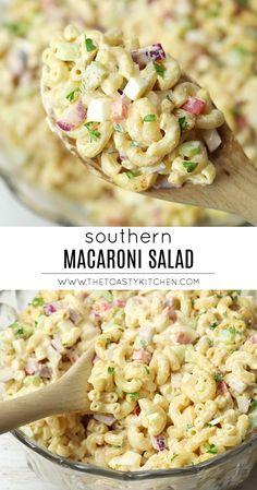 Southern Macaroni Salad - The Toasty Kitchen salad recipes Southern Macaroni Salad, Best Macaroni Salad, Simple Macaroni Salad, Classic Macaroni Salad, Macaroni Salads, Best Pasta Salad, Recipe For Macaroni Salad, Amish Macaroni Salad, Picnic