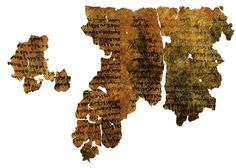 Parchment copied circa 200-150 B.C. 4Q201.  A fragment of the Book of Enoch. The publication, in the early 1950s, of the first Aramaic fragments of 1 Enoch among the Dead Sea Scrolls profoundly changed the study of the document, as it provided evidence of its antiquity and original text. The official edition of all Enoch fragments appeared in 1976. The Book of Enoch (also 1 Enoch[1]) is an ancient Jewish religious work, traditionally ascribed to Enoch, the great-grandfather of Noah.