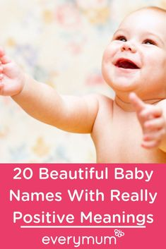 20 Beautiful Baby Names With Really Positive Meanings. There is always a feeling of hope and looking to the future at every new beginnings. Wouldnt it be lovely to capture that sense of Hope in your baby's name? Latest Baby Girl Names, Cool Baby Girl Names, Popular Baby Names, Celebrity Baby Names, Unique Baby Names, Boy Names, Best Baby Names, Celtic Baby Names, Irish Baby Names