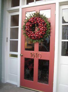 wreath and door