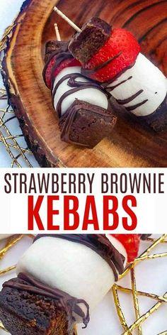 Strawberry Brownies, Strawberry Desserts, Donut Hole Recipe, Chinese Lemon Chicken, Banana Split Dessert, Cheesy Breadsticks, Baked Banana, Pie Dessert, Dessert Recipes