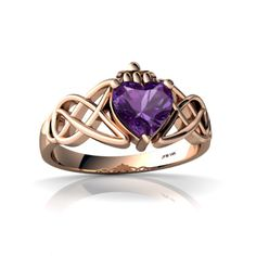 celtic wedding ring amythest