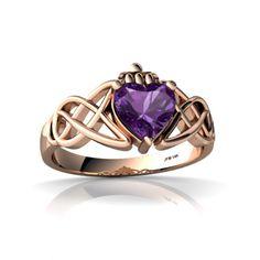 celtic wedding ring amythest