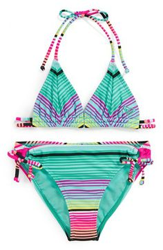 Roxy Two-Piece Swimsuit (Big Girls) available at #Nordstrom