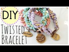 DIY Bracelet, by Michele Baratta. Heres a full video tutorial for a twisted leather bracelet. This is such a fun and easy Jewelry making project. Diy Jewelry Tutorials, Jewelry Crafts, Make Your Own Jewelry, Jewelry Making, Bow Necklace, Diy Bow, Diy Bracelet, Charm Bracelets, Diy Gifts
