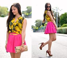 When the life gives you lemons... (by Alba .) http://lookbook.nu/look/3914556-When-the-life-gives-you-lemons