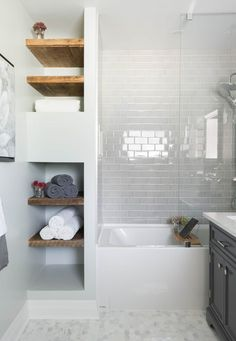 Image result for tiled in bath with storage at each end