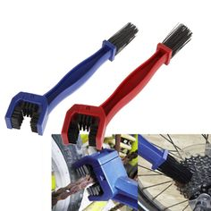 Bicycle Chain Clean Brush Cycling Motorcycle Gear Grunge Brush Cleaner Outdoor Cleaner Scrubber Tool US#V