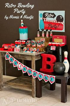 Little Big Company | The Blog: Little Big Company The Blog: A Retro Bowling Party by Naatje Patisserie Cupcakes & Cakes and Nomie Boutique Stationery