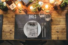 Love the chalkboard place mat