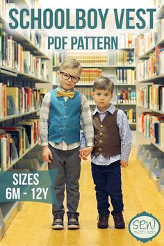 Schoolboy Vest PDF Pattern - sizes 6months to 12 years!