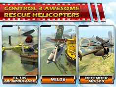 Rescue Helicopter - 3D Parking Hit Android and google play store!<br>The free to play flight simulator that has been awarded as the best flying game 2015 is your chance to fly helicopter around a disaster zone. Respond to 911 calls, drowning people and sinking ships. Fly fast, fly low just do not crash your helli in to the waters as you try to manoeuvre it between the wrecks.<p>The rescue helicopter flight simulator offers you:<br>- 36 Levels to pilot your chopper through<br>- Hyper real…