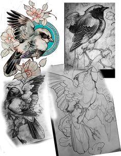Ideas Tattoo Traditional Swallow Art For 2019 Tatoo Art, Body Art Tattoos, New Tattoos, Sleeve Tattoos, Tattoo Bird, Bird Drawings, Animal Drawings, Tattoo Sketches, Tattoo Drawings