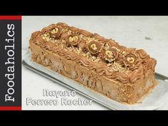 Πανεύκολο παγωτό ferrero rocher με 4 υλικά   foodaholics - YouTube Ferrero Rocher, Tiramisu, Sweet Tooth, Deserts, Cooking Recipes, Ice Cream, Baking, Ethnic Recipes, Food