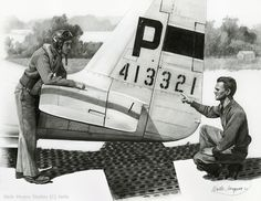 """George Preddy, Highest Scoring Mustang Ace,"" by Wade Meyers."