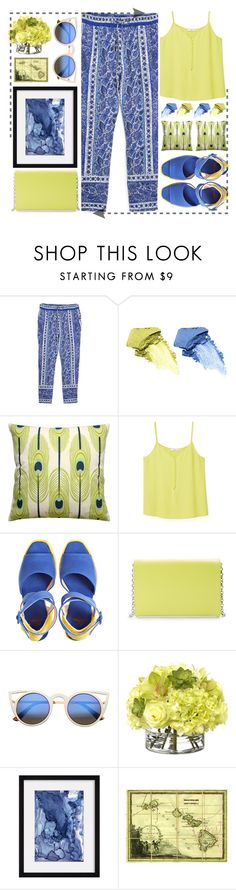 """""""Freshing"""" by jiabao-krohn ❤ liked on Polyvore featuring MANGO, NARS Cosmetics, Castañer, Halogen, ZeroUV, Diane James, Natural Curiosities, Spring, croptop and printed"""
