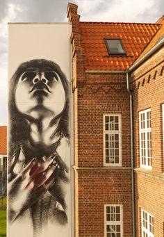 «La pureté du Coeur» par El Mac – Aalborg, Danemark - www.street-art-avenue.com