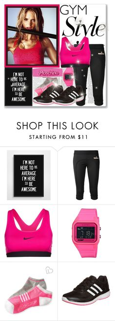 """Gym Style"" by elizabeth-912 ❤ liked on Polyvore featuring WALL, Nicki Minaj, adidas, NIKE, Electric Eyewear, Aéropostale, Moschino and gymstyle"
