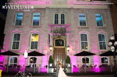 WedLuxe: great shot of a city wedding by Delmore Creative Inc. Photography