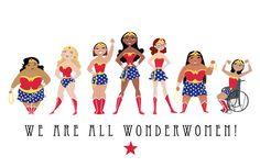 Wir sind alle Wonderwomen 11 x 17 drucken von SatrunTwinsArtShop