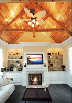 contemporary classic shelving beside fireplace - Google Search