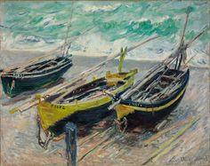 Claude Monet Three fishing boats - 1885