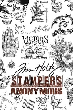🗝️ Timeless antique-inspired rubber stamps are here! Shop all Tim Holtz stamps at discount prices today. Tim Holtz Stamps, Stampers Anonymous, Stamping, Journaling, Scrapbooking, The Incredibles, Printables, Templates, Inspired