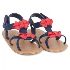 ba0173082383 Mayoral Girls Navy and Red Faux Leather Sandals