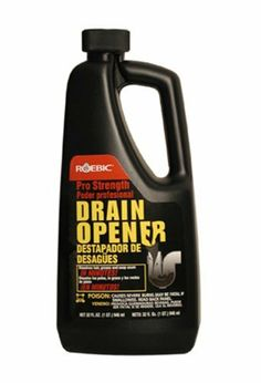 Roebic PDO Pro Drain Opener, 32 Ounces by Roebic Laboratories. $6.87. From the Manufacturer                Now available for home use, Pro Strength Roebic Liquid Drain Opener clears the tough clogs fast, even through standing water.  It is safe for plumbing fixtures and plastic pipes.  Not for use in aluminum sinks, garbage disposals, lead traps or toilets                                    Product Description                3 times stronger than most drain openers. Clears cl...