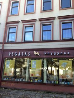 The Pegasus Bookstore in Kaunas is the largest chain of bookstores. I appreciate the Greek name ; Greek Names, Modern City, Bookstores, Lithuania, Pegasus, Mansions, Chain, House Styles, Manor Houses