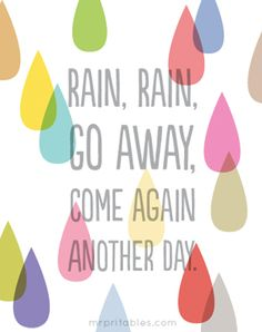 imprimible canción infantil lluvia lluvia desaparece